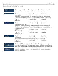 9 best different types of resumes formats sample best chronological resume templates