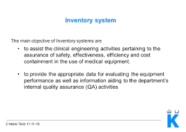 inventory system 2 heikki teriö inventory system the main 2 heikki teriö 11 11 18 inventory system the main objective of inventory systems