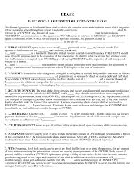 rent and lease template 584 templates in pdf word excel basic rental agreement or residential lease