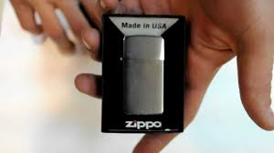 <b>Зажигалка Zippo</b> 1600 <b>Slim</b> Brushed Chrome - YouTube
