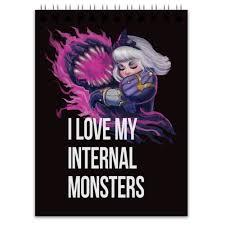 """Блокнот """"I love my inner monsters"""" #2693821 от Полина Снегова ..."""