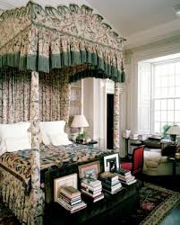 kitty otoole elegant whimsical bedroom: wonderful fully upholstered bed in the tradition of those made for visiting royalty in the great english stately homes