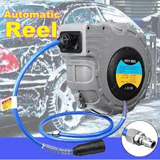 9M Water Hose <b>Reel Automatic Wall</b> Mounted Watering Pipe ...