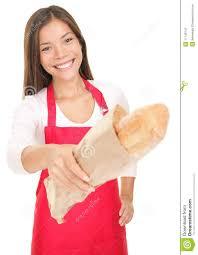 w s clerk giving b stock image image  w s clerk giving bread
