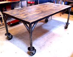 industrial dining room table improvise