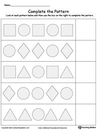 Pattern Worksheets For Preschoolers Free - SheetsPlete The Shape Pattern