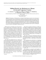 (PDF) <b>Sliding electric</b> arc discharge as a means of <b>aircraft</b> trajectory ...