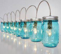sapphire blue mason jar lights banner style modern by bootsngus blue mason jar string lights