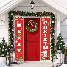 <b>Merry Christmas</b> Banners, Front <b>Door</b> Welcome Christmas <b>Porch</b> ...