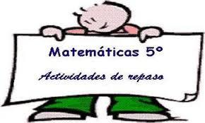 Resultado de imagen de matematicas 5o primaria