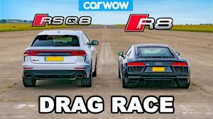 <b>Audi R8</b> vs RSQ8: DRAG RACE! - YouTube