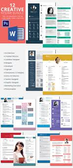 46 best resume templates to premium templates 12 creative resumes bundle >