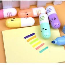 <b>6Pcs</b> / <b>Set</b> Korea cartoon kawaii smile mini Highlighter <b>DIY</b> painting ...