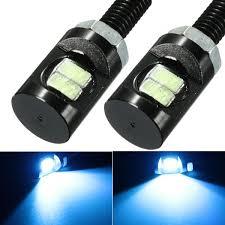 2pcs CC 12V LED perno roscado luz de la matrícula de la lámpara ...