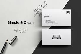 clean business card photos graphics fonts themes templates minim simple clean business card