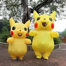 Christmas <b>Pokemon Pikachu Inflatable</b> Costume <b>Adult</b> Large Mascot ...