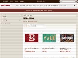 Boot Barn   Gift Card Balance Check   Balance Enquiry, Links ...