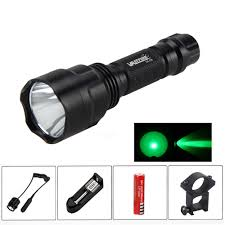 3000LM Green CREE <b>C8</b> For Rifle W/Barrel Light <b>Hunting Flashlight</b> ...