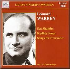 Leonard Warren: Sea Shanties; Kipling Songs; Songs for Everyone ... - Leonard_Warren_8111345