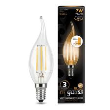 "<b>Лампочка Gauss</b> LED Filament ""Свеча на ветру"" E14 7W 550lm ..."