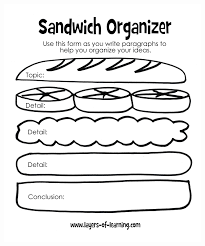 teaching kids to write their first reports layers of learning sandwich organizer for kids writing their first reports