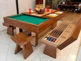 kitchen room pull table: pool table and kitchen table all in one