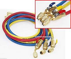"R134a <b>R410a</b> R22 3 Color 5ft Hvac Ac <b>Charging Hoses</b> 1/4"" Fitting ..."
