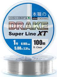 <b>Леска Yoshi Onyx DRAKE</b> SUPERLINE XT 100 M 0.181 mm Clear ...