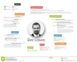 original cv resume template stock vector image  original cv resume template