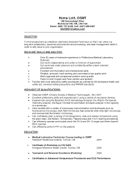 medical laboratory medical laboratory assistant sample resumes gallery photos of medical technologist resume examples