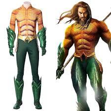 <b>Arthur Curry Aquaman</b> 2018 Superhero Full Set <b>Cosplay Costume</b>