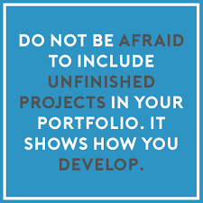 portfolio tips tip 4 any great idea has to have a brainstorming process and it is good for the interviewer to see your thought process