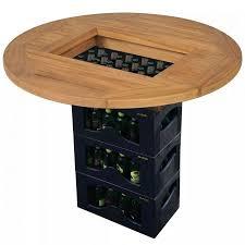 <b>Beer Crate Tabletop Teak</b> 70 cm | Crazy Sales