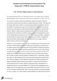 Assignment   Part B  Argumentative Essay   APC      Academic and     Assignment   Part B  Argumentative Essay