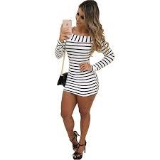 Women's Striped Knitting Dress <b>2019 New Fashion Autumn</b> Winter ...