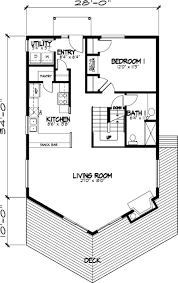 ideas about A Frame Cabin Plans on Pinterest   A Frame Cabin    First Floor Plan of A Frame Cabin Narrow Lot Vacation House Plan