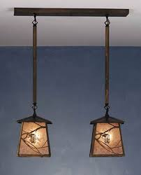 industrial handmade double pendant light fixture crafts creatives branches nunchucks japanese weapons asian zen relaxing recycled asian pendant lighting