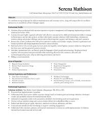 manager resume objective resume sample database resume