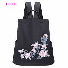 Ethnic Style Embroidered Nylon <b>Backpack Oxford</b> Cloth Waterproof ...