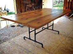 furniture custom diy large farmhouse dining table with black iron pipe table