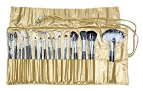 Black+Golden Bag : (TM) <b>18 Pcs Professional</b> Animal <b>Hair</b> Makeup ...