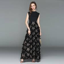 <b>ARiby Women</b> Black Maxi Sleeveless Long Slim <b>Dress</b> 2019 ...