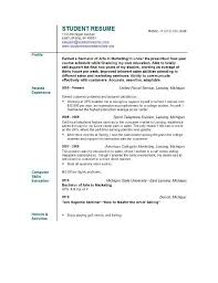 resume objective examples for a high school student resume    resume