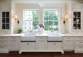 kitchen ideasdreamy kitchen with sconces flanking two apron kitchen sink kitchen sinks alcove apron kitchen sink kitchen sinks alcove