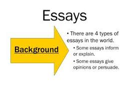 ppt   types of essays powerpoint presentation   id  essays   background  there are  types of essays in the world
