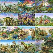 <b>Dinosaur Full</b> Square 5D <b>Diamond Embroidery</b> Painting | Painting ...
