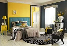 yellow and gray bedroom: gray blue yellow bedroom homevillage gencook com