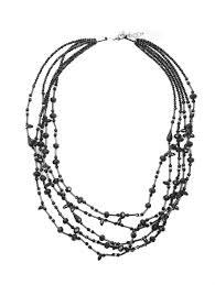 Weekend Max Mara черное <b>ожерелье из кристаллов</b> (514077 ...