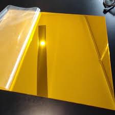 <b>16 Pcs</b> Golden Plastic <b>Mirror</b>, प्लास्टिक का आईना ...