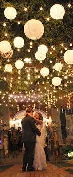 hanging paper lanterns and lights wow factor wedding decorations breaking lighting set